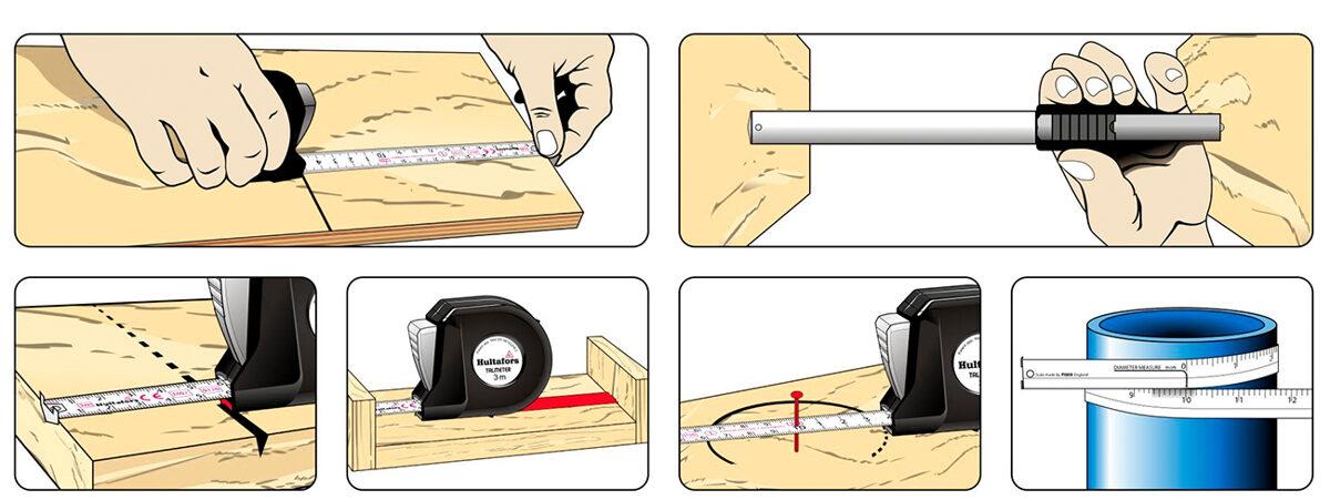 HULTAFORS Talmeter ruletės atsarginiai rėžtukai (universalūs)