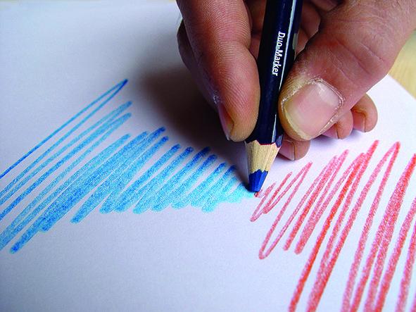 1171 Dvispalvis pieštukas raudona/mėlyna 175mm
