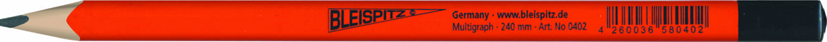 0396 Trikampis staliaus pieštukas 7B, 240mm