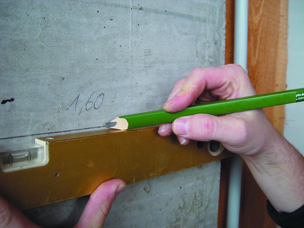 0334 Mūrininko pieštukas 6H 240mm / 10H 300mm