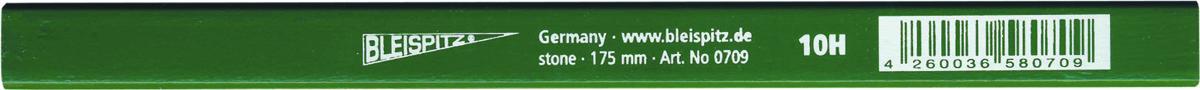0709 Aštunkampis mūrininko pieštukas 10H, 175mm