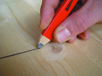 0693 Aštunkampis dailidės pieštukas HB, 175mm