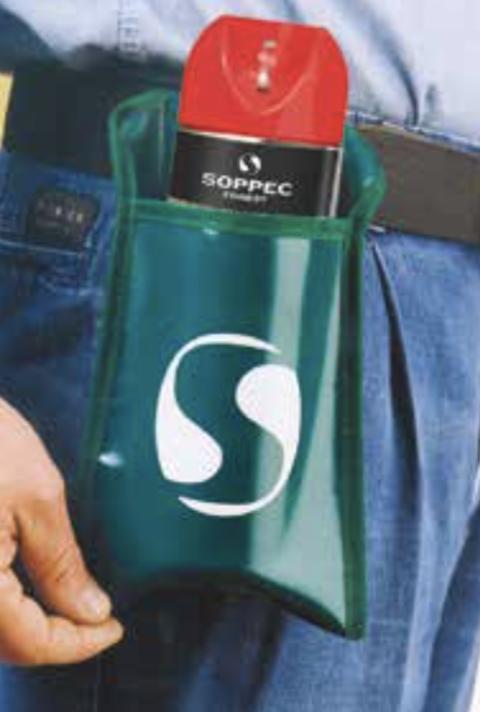 Aerozolių nešioklė prie diržo