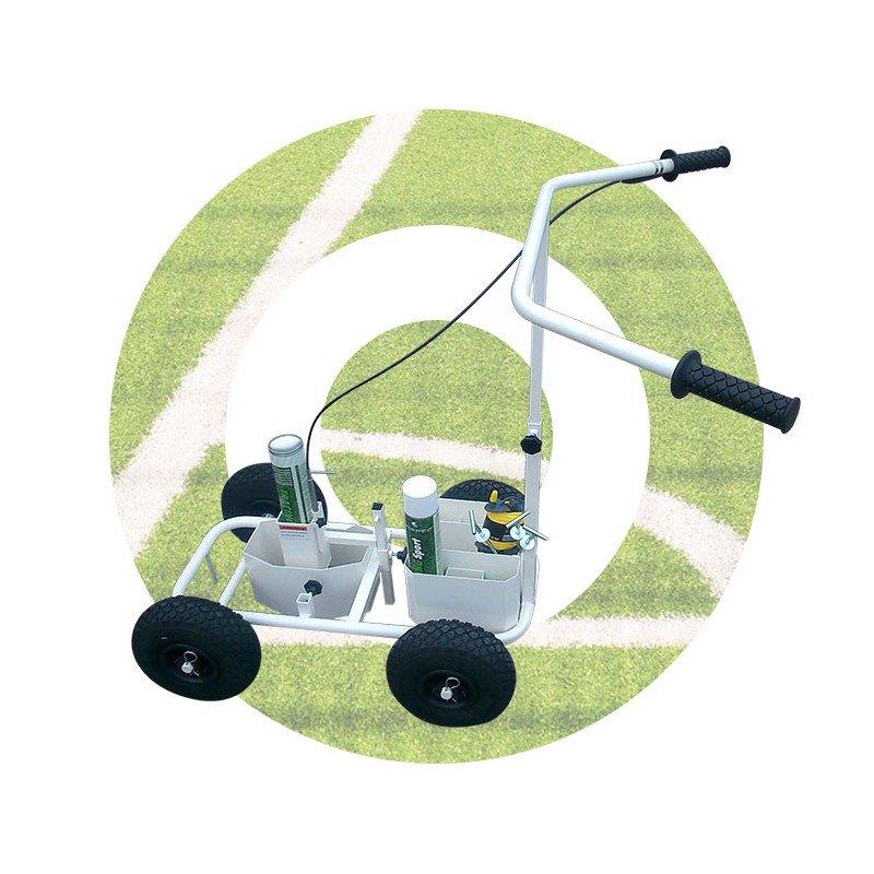 Linijų ženklinimo vežimėlis baltas