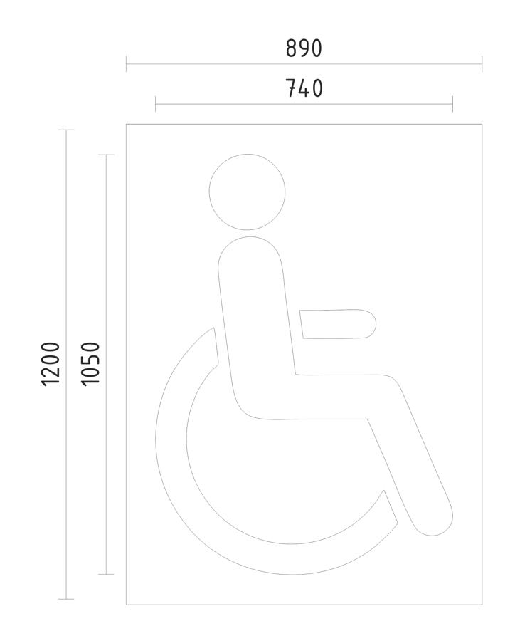 Trafaretas - neįgaliųjų parkavimo vieta